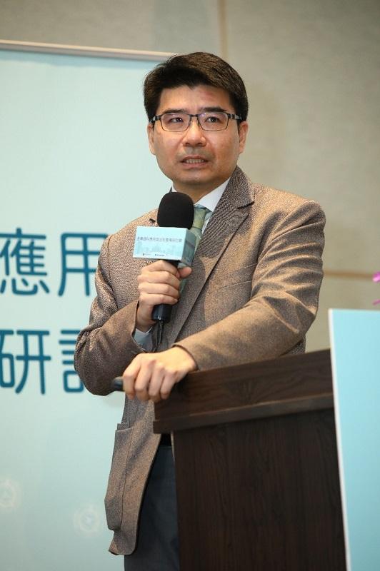NCC鄧惟中委員參與「2020通傳資料應用與法制整備研討會」與談會議說明。