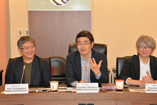 圖3:日本JAIPA行動部門主席北村和廣(中)、安力川幸司(左)、村田篤紀(右)