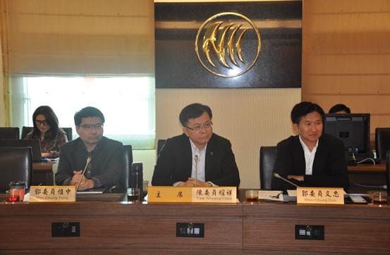 本會陳委員耀祥、郭委員文忠、鄧委員惟中接見台灣有線寬頻產業協會與4家有線電視多系統業者代表