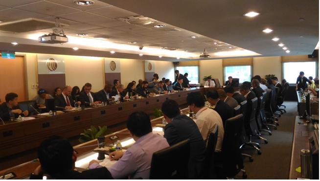 GCTF學員及美國專家共同討論建立台灣區域之國際網路安全卓越中心(International Cybersecurity Center of Excellence, ICCOE)可行性相關議題之會場剪影